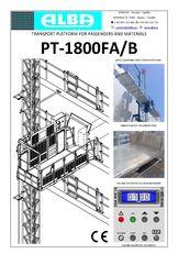 new PT ALBA 1800FA/B suspended platform